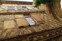 Half-timbered medieval facade at world-famous St Emilion, France Stock Photography