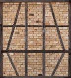 Half-timbered nogged with bricks Stock Photo