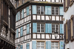 Half-timbered old housed of Strasbourg Stock Photography