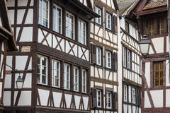 Half-timbered old housed of Strasbourg Royalty Free Stock Image