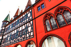 Half-timbered picturesque Old town Hall in Fulda, Germany Royalty Free Stock Photo