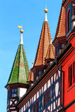 Half-timbered picturesque Old town Hall 1531-1782 in Fulda, Germany Royalty Free Stock Photo
