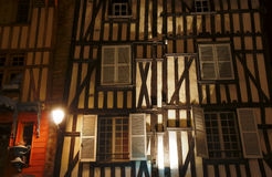Half-timbered tenement house Stock Images