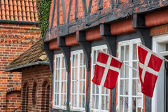 Half timbered traditional house in ribe denmark Royalty Free Stock Image
