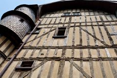 Half-timbered urban house in Troyes, France Royalty Free Stock Image