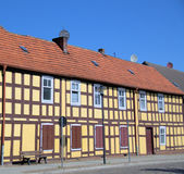 The  half-timbered wall. In old town Templin (Germany Royalty Free Stock Image