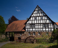 Half timbered water mill, Buedingen Stock Photography
