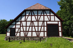 Half timbering barn Stock Image