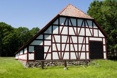 Half timbering barn Stock Photo