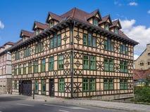 Half-timbering house. A half-timbering house in Meiningen (Germany Royalty Free Stock Photography