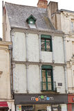 Half-timberled house on Place Sainte-Croix, Angers Royalty Free Stock Photo
