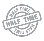 Half Time rubber stamp. Grunge design with dust scratches. Effects can be easily removed for a clean, crisp look. Color is easily changed Royalty Free Stock Photos