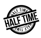 Half Time rubber stamp. Grunge design with dust scratches. Effects can be easily removed for a clean, crisp look. Color is easily changed Stock Photos
