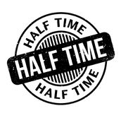 Half Time rubber stamp. Grunge design with dust scratches. Effects can be easily removed for a clean, crisp look. Color is easily changed Stock Image