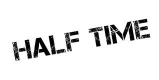 Half Time rubber stamp. Grunge design with dust scratches. Effects can be easily removed for a clean, crisp look. Color is easily changed Royalty Free Stock Images