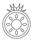 Half tomato icon Royalty Free Stock Image