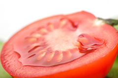 Half a tomato isometric view Royalty Free Stock Images