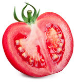 Half of tomato on a white background. Stock Images