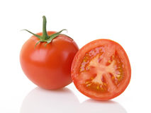 half tomattomater royaltyfria bilder