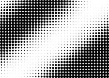 Half tone black and white dots vector illustration
