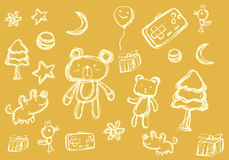 Half tone cartoon doodle vector illustration