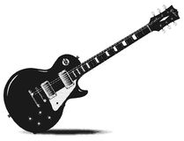 Half Tone Electric Guitar Royalty Free Stock Image