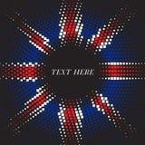 Half tone square round United Kingdom flag template Stock Photo
