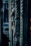 Lifting mechanism rope stock image