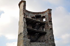 Half of tower in ruins Stock Photo