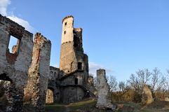 Half of tower in ruins Stock Images