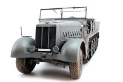 Half-track car perspective view Stock Image
