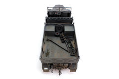 Half-track model rear view from above Royalty Free Stock Photos