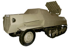 Half-track rocket launcher Stock Image