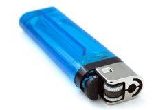 Isolated Blue Lighter Royalty Free Stock Photo