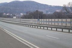 Half-turn highway road 3.4. Half-turn road three quarters is turned 3,4. Highway in the city Stock Image
