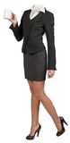 Half-turned businesswoman body Royalty Free Stock Photography