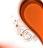 Half uitstekend hart. vector illustratie Stock Afbeelding