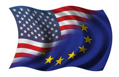 Half US - Half EU Stock Photography