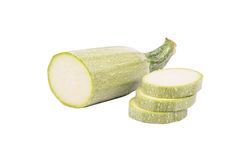 Half of vegetable marrow with slices Royalty Free Stock Photos