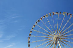 Half view of ferris wheel Royalty Free Stock Image