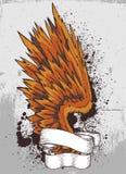 Half vleugel en frame royalty-vrije illustratie