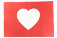 Half vouwen wit hart Royalty-vrije Stock Foto
