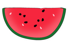 Half water-melon and d symbol Royalty Free Stock Image