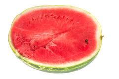 Half of watermelon. Red sweet watermelon on a white background Stock Photography