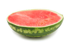 Half a watermelon, isolated Royalty Free Stock Images