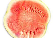 Half of watermelon isolated on white background Royalty Free Stock Images