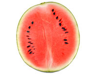 Half of watermelon isolated on white background. Half of watermelon isolated on white background,watermelon,half of watermelon Royalty Free Stock Photos
