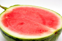 Half a watermelon isolated on white Stock Images
