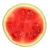 Half Watermelon. Half section of watermelon on white isolated background Stock Images