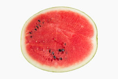 half watermelon slice isolated on white background Royalty Free Stock Images